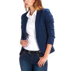Veste tailleur stretch bleu marine Femme kiabi 24.99€
