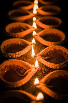 Happy Diwali - Many Terracotta Diya Or Oil Lamps Arranged Over Clay Surface Or Ground In One Line Or Curved Or Zigzag Form, Select Stock Image - Image of ganesha, festival: 101028765 Happy Diwali Wallpapers, Happy Diwali Images, Diwali Festival Of Lights, Diwali Lights, Diwali Decorations At Home, Festival Decorations, Diwali Photography, Diwali Lamps, Diwali Pictures