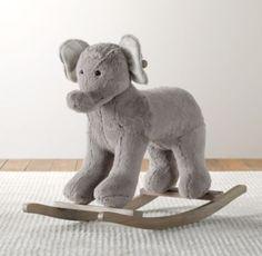 Cuddle Plush Animal Rocker | Nursery Accessories | Restoration Hardware Baby & Child