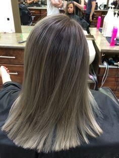 Ash blonde colour melt! #hairbycutrina