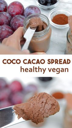 How to make easy chocolate spread with coconut milk and cacao powder Can be made with either cacao or cocoa powder Dairy free and vegan simple recipe vegan chocolate chocolatespread veganrecipe # Cacao Chocolate, Chocolate Spread, Coconut Chocolate, Vegan Chocolate Mousse, Dairy Free Chocolate, Vegan Chocolate Sauce Recipe, Nutella Vegan, Desserts Nutella, Healthy Chocolate Desserts