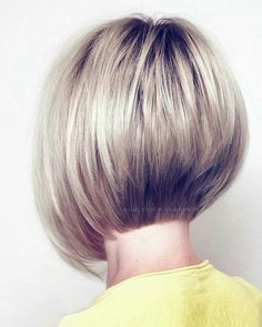 In this article, we will discuss some Popular Bob Hairstyles 2019 that you will like! Salt and pepper angled bob is a great hairstyle. Bob Haircut For Fine Hair, Bob Hairstyles For Fine Hair, Easy Hairstyle, Celebrity Hairstyles, Wedding Hairstyles, Stacked Bob Hairstyles, Short Bob Haircuts, Short Hair With Layers, Short Hair Cuts