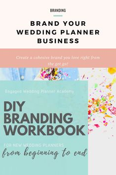 Having a strong brand from the very beginning will save you time, money, and help you connect with your ideal audience right away. In the DIY Branding Workbook, I walk you through how to lay the foundation of your brand using a three-pronged branding framework.  | Wedding planner branding, wedding planner tools, wedding planner tips, wedding planner products, wedding planner business, wedding planner branding event planning, how to become a wedding planner, wedding planner branding business