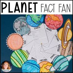 Planet Fact Fans Distance Learning by Amanda Garcia Teachers Pay Teachers Solar System Model, Our Solar System, Earth Day Facts, Solar System Projects For Kids, Planet Project, School Science Projects, Kids Learning Activities, Research Projects, Student Engagement