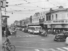 1954: Corner of Barkly St and Nicholson St, Footscray. Picture: Herald Sun Image Library/