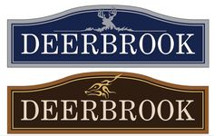Deerbrook community signs. Design submission for this private neighborhood. Strata Custom Signage in Chicago. www.customoutdoorwoodensigns.com