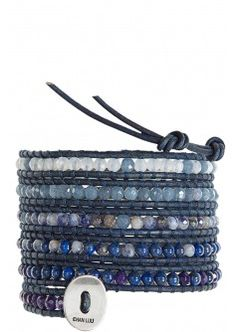 Faceted Mix Wrap Bracelet