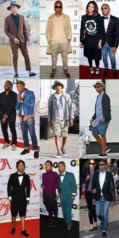 Pharrell Williams Personal Style Lookbook 2015