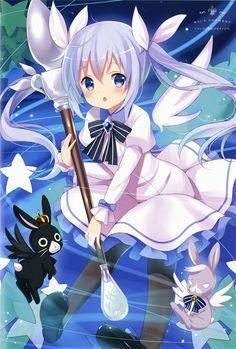 Is the order a rabbit? Kawaii Anime Girl, Loli Kawaii, Anime Art Girl, Manga Girl, Anime Girls, Anime Chibi, Manga Anime, Lolis Neko, Hokusai