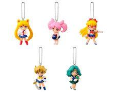 2014 Bandai Gashapon Sailor Moon Swing Part 2 Set of 5 Color Figure Keychain Japan