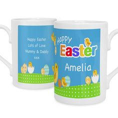 Personalised Easter Chick Slim Mug - The Hut Market - Personalised Gift Shop