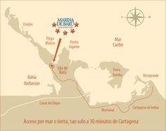 Villas en Isla de Baru. Villas, To Go, Map, Movies, Movie Posters, Places, Cartagena, Beach, Films
