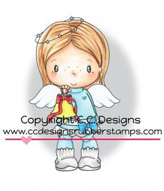 *New C.C. Designs Swiss Pixie Birgitta Rings A Bell Rubber Stamp - Click Image to Close