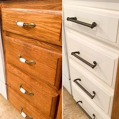 Learn to Fill Woodgrain: Insider Tips From a Pro – Painted by Kayla Payne Diy Kitchen Cabinets, Wood Cabinets, Kitchen Decor, Kitchen Ideas, Kitchen Design, Kitchen Paint, Kitchen Stuff, Furniture Projects, Furniture Makeover