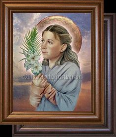 St. Maria Goretti is an Italian virgin-martyr of the Roman Catholic Church, and is one of its youngest canonized saints. She died from multiple stab wounds inflicted by her attempted rapist after she refused to submit to him.