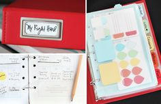 I have one of these and they are really helpful so you can take them with you wish i would have found this post before i bought all my stuff. but anyway really great post on planners from the Martha Stewart line at staples