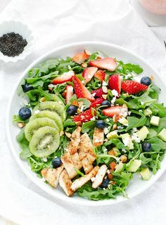 This strawberry arugula salad with poppy seed dressing is nutritious and delicious.