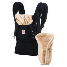 Ergobaby Bundle of Joy Baby Carrier with Infant Insert - BlackCamel