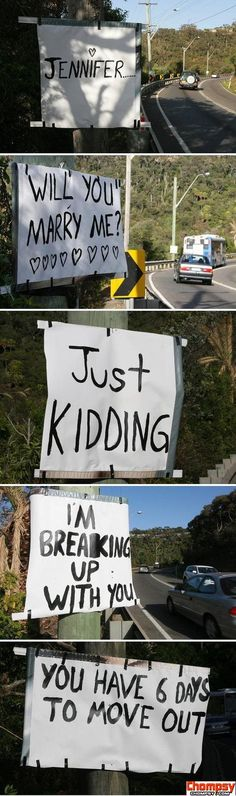 break up road signs