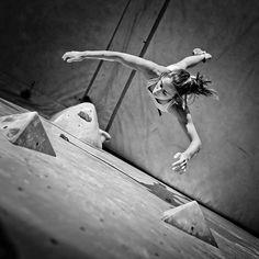 Don't be afraid to fall. Credit photo: Jannovak Photography. #falling #bouldering #toutablocs #2015