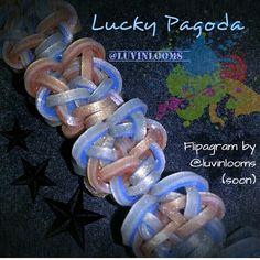 Lucky Pagoda Bracelet by @luvinlooms on instagram
