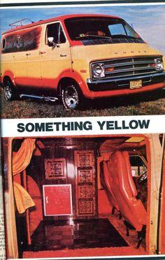 """Something Yellow"" custom 70's van feature"