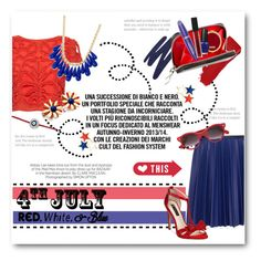 """""""4th of July Red, White, and Blue"""" by lalalaballa22 ❤ liked on Polyvore featuring Alice + Olivia, Cédric Charlier, INC International Concepts, By Terry, Chanel, Aaron Basha, Henri Bendel, OPI, Max Factor and Smashbox"""