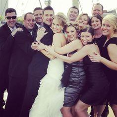 Group shot, wedding day