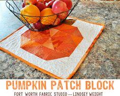 Fort Worth Fabric Studio: Pumpkin Patch Block Tutorial