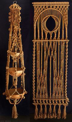 I would love to learn to macrame again, would look great hanging from below my deck.