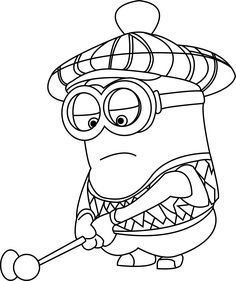 Despicable Me Golfer Coloring Page