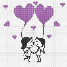 ~ Pin by Renie Eileen on Sticken Cross Stitch Bookmarks, Cross Stitch Heart, Cross Stitch Alphabet, Modern Cross Stitch, Cross Stitching, Cross Stitch Embroidery, Hand Embroidery, Wedding Cross Stitch Patterns, Cross Stitch Designs