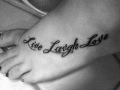 Live Laugh Love Tattoos On Collarbone