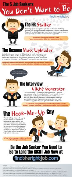 Don't Act Like One of These Job Seekers! [Infographic] - Jobs Hiring: How to Get That Job Life After High School, Graduate Jobs, Job Info, Job Search Tips, Cover Letter For Resume, Cover Letters, Jobs Hiring, Find A Job, Dream Job
