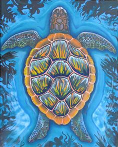 """Turtle"" Oil on canvas http://melissaburgher.com/"