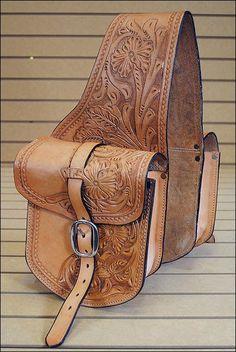 BH103F- HILASON WESTERN LEATHER COWBOY TRAIL RIDE HORSE SADDLE BAG #Hilason horse saddles