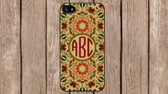 Personalized Monogram Vintage Roses Floral Pattern for iPhone 4/4s/5/5s/5c Samsung Galaxy S3/S4/S5/Note 2/Note 3 by TopCraftCase, $6.99