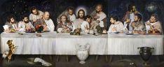 Ulisse Sartini, Ultima Cena - 2015 Christian Paintings, Christian Artwork, The Last Supper Painting, Jesus Last Supper, Fantasy Art Landscapes, Art Of Man, Biblical Art, High Priest, Holy Week