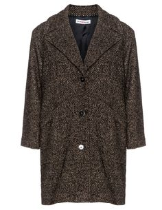 Maxima Tweed turndown collar coat in Brown / Black - I'm in luuuuuuurv!!!!!!