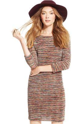 4f6b4eefe0 As U Wish Juniors  Space Dye Knit Dress - Juniors Dresses - Macy s