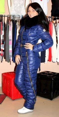 Ski Jumpsuit, Denim Jumpsuit, Overalls, Under Armour Femme, Under Armour Women, Winter Jackets Women, Coats For Women, Jennifer Aniston, Down Suit