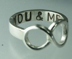 You and Me infinity ring <3