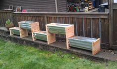 Corrugated Metal Planters - Northwestern Gardening Forum - GardenWeb