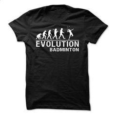EVOLUTION BADMINTON - #bachelorette shirt #black tee. SIMILAR ITEMS => https://www.sunfrog.com/Sports/EVOLUTION-BADMINTON.html?68278