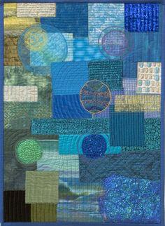 Water | Ineke van Unen – art quilts – textile art