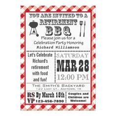 Vintage barbecue invitation vector barbecue invitations traditional retirement party bbq invitation stopboris Gallery