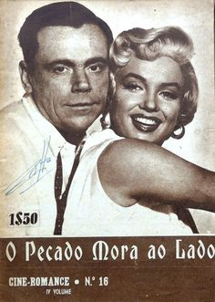 Marilyn Monroe and Tom Ewell on the cover of Cine Romance magazine, 1956, Portugal.