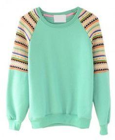 Raglan Sleeve Fleeces Sweatshirt