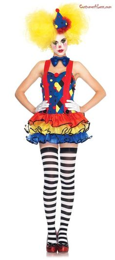 Giggles The Sexy Clown Adult Costume at Costumes4Less.com