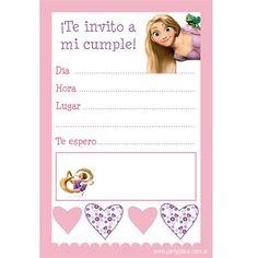Como hacer tarjetas de invitación de rapunzel - Imagui